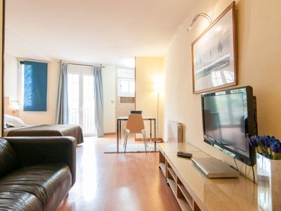 Photo for Riera de Sant Miquel III apartment in Gràcia with WiFi & integrated air conditioning.
