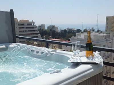 Photo for Spectacular Penthouse with Hot Tub, Wrap Around Terrace, Sea and Mountain Views.