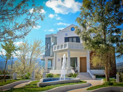 Photo for Luxury villa to rent in Chania, Modern Design, Fantastic View, Playground