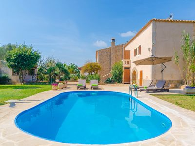 Photo for CAS MUNGÍ VELL - Villa with private pool in S'Horta.