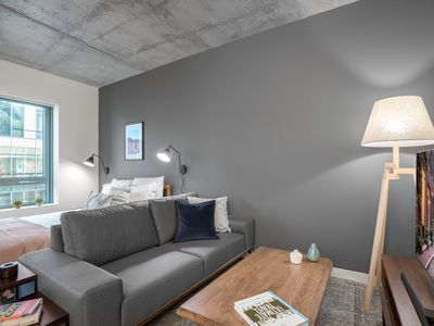 Photo for Comfy Kendall Square Studio w/ Gym, walk to MIT by Blueground