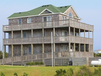 Desirable Oceanview Home, Rodanthe-Elevator, Pool, Hot Tub, Game Rm, DogFriendly