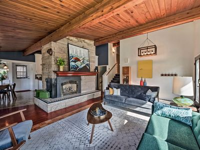Photo for NEW! Mid-Century Modern Home, Walk to Sultan River