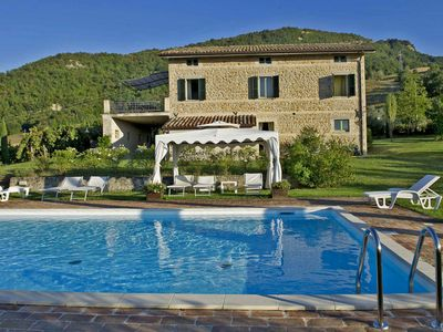 Photo for Private villa with pool, wi-fi, pet-friendly, wide outdoor living, Le Marche