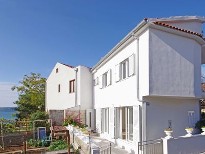 Photo for Modern two-storey house with private terrace 30m from the charming pebbly beach