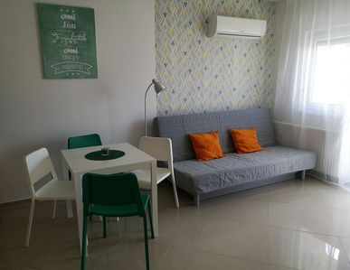 Photo for New apartment at the golden beach with pool, Wylan, sauna in central location, Balaton 70m