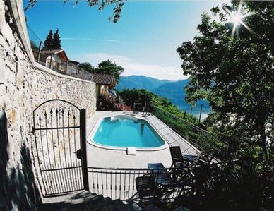 Photo for Tastefully furnished 2-bedroom house with pool above Tronzano.