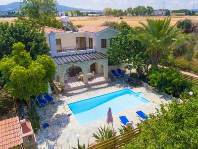 Photo for Villa Irini; Large Private Pool, Walk to Beach, Sea Views, A/C, WiFi, Car Not Required