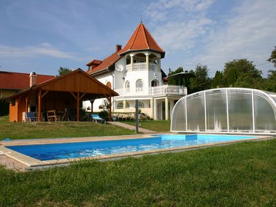 Photo for Villa with breathtaking views in Heviz, indoor pool 9,30x3,50x1,40 m