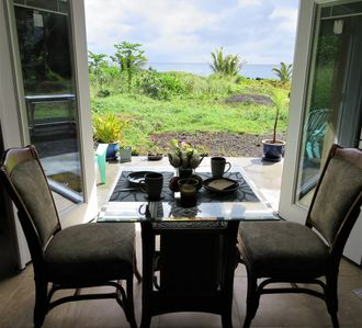 It's all about the view. The property extends all the way to the ocean's edge.