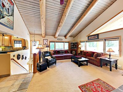 Photo for Big 3BR w/ Showpiece Fireplace, Stellar View & Private Hot Tub – Near Slopes