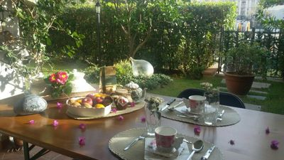 """Photo for """"Il nido di Giò"""" elegant apartment on the ground floor with private garden"""