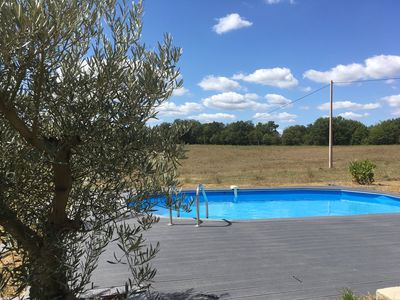 Photo for Fully restored house for 10 people with swimming pool in Périgord