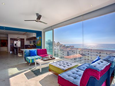 Photo for Spectacular Ocean Views at quiet but central D'Terrace Designer Condo
