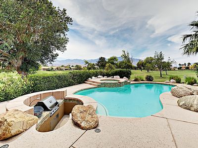 Photo for Luxe 4BR on Fairway w/ Private Pool & Spa – Separate Casita, Mountain Views