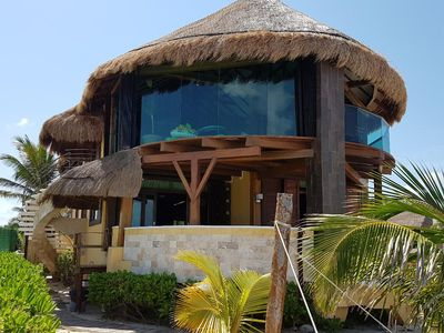 Photo for MARCH  DEAL ONLY $1,500 usd BEACH FRONT 3 Bdrs. Staff, kayak, Paddle boar
