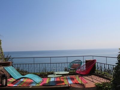 Photo for VILLA ON THE SEA WITH GARDEN POOL AND PARKING Villa on the sea with piscin garden