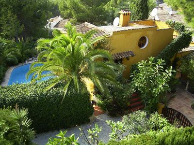 Photo for Romantic holiday house up to 5 pers. Private pool Moraira Costa Blanca Spain