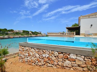 Photo for Air-Conditioned Villa by the Sea with Infinity Pool, Wi-Fi and Terraces; Parking Available