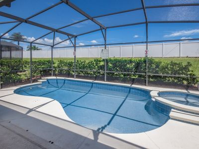 Photo for No Rear Neighbhors - Private Heatable Pool - 15 Minutes to Disney - Resort Amenities