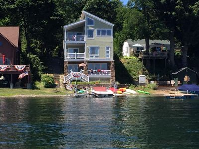 Photo for Extended Family Waterfront Rental-Pet Friendly-Elevator & Free WiFi-Keuka Lake Wine Trail