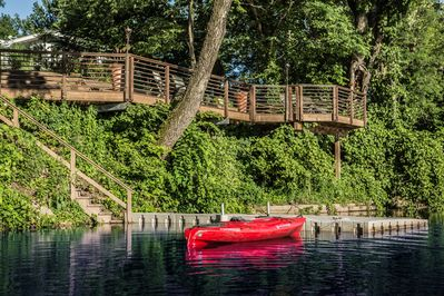 Canoe and 2 kayaks for your use. Great swimming in the river.