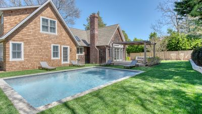 Photo for New Listing: Peaceful Sag Harbor Home w/ Waterviews, Heated Pool, Walk to Town