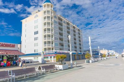Located in Prime location on boardwalk and beach next to amusement pier
