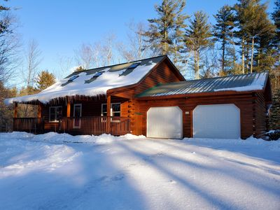 Photo for NEW!! Amazing Log Cabin 5 min from N. Conway Village