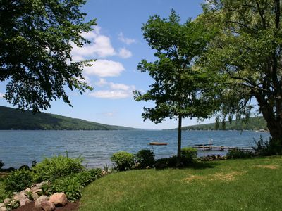 Photo for Over 200 Ft. Of Private Level Keuka Lake Frontage, Large Yard  & Gorgeous Views