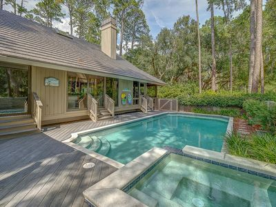 Photo for Sea Pines Vacation Home / Heated Pool & Spa / Beach Chairs Provided