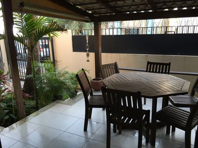 Photo for BEAUTIFUL VILLAGE BEACH FRONT PIATÃ 3 ROOMS BALCONY SAFETY GARAGE