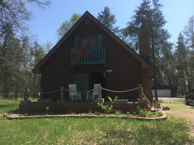Photo for Cabin in the Woods with 15 acres to play family and pet friendly