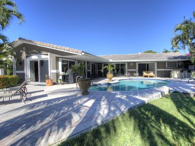 Photo for Spacious 4 Bedroom Pool Home with 2 Docks on Middle River in East Wilton Manors