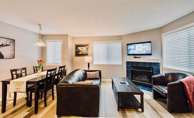 Photo for Banff Mountain Gate condo with 2BR/Hot tub/BBQ, pet friendly