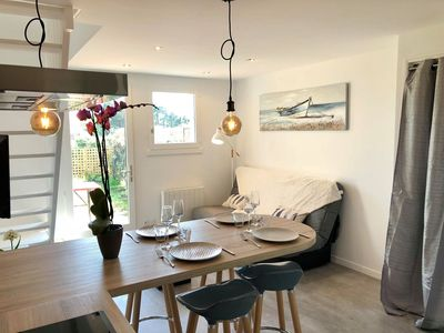 Photo for Charming Maisonette 250m from the beach, Guidel-Plage