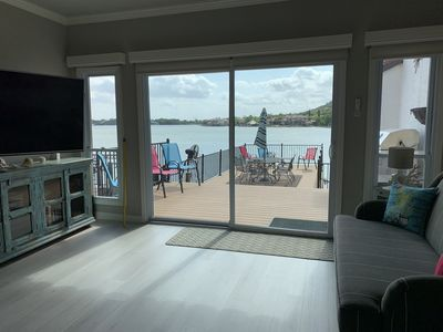 Lake view from the main level living space is fabulous!
