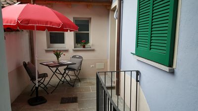 Photo for Newly furnished 2-room apartment with courtyard in the charming old town of Cannobio