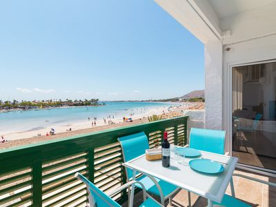 Photo for Apartamento Valent - Beautiful beach front Apartment in Port d'Alcúdia