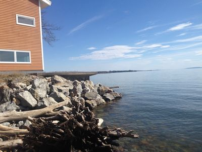 Photo for Stunning Home on Lake Champlain- can't get any close to the water!