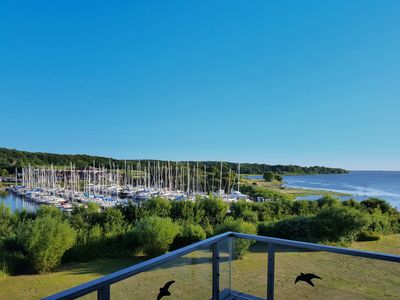 Photo for Apartment with fantastic views of Baltic Sea, harbor, forests and fields