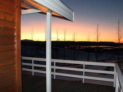 Photo for Cottage with a great view and outdoors geothermal hot tub