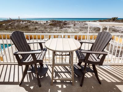 "Photo for ""Gulf Dunes Unit 106"" Gorgeous 2nd floor Direct Gulf Front! Sleeps 6!"