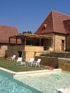 Photo for A single cottage with large pool, large garden and forest views