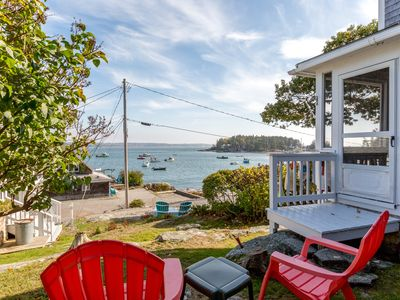 Photo for Charming cottage overlooking  picturesque Five Islands Harbor