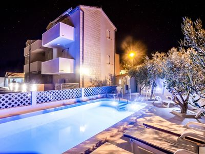 Photo for Bol apartment with pool for 2