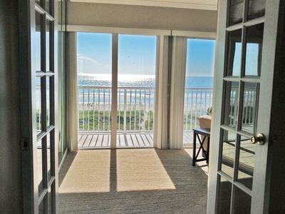 Photo for Oceanfront 2/2, NEWLY RENOVATED, elevator, pool & 18 ft balcony