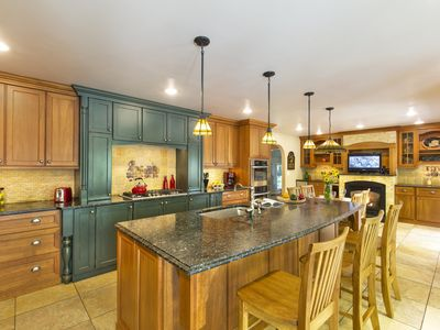Photo for Fabulous 5 Bedroom, 3 Bath Home With Million Dollar Kitchen Sleeps 12