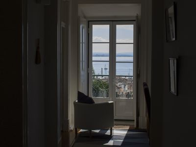 Photo for Very quiet and sunny with stunning views over Alfama roofs and Tagus river