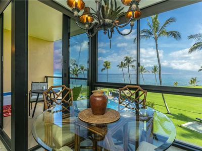 Photo for Ocean front views take you across the Pacific in this 1 bedroom Condo at Kihei Surfside #307